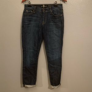 7 for all Mankind the skinny crop & roll, Sz 29